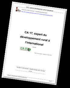 Petit Economiste CA 17 International